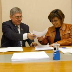 Irina Rodnina and Yuri Rodionov