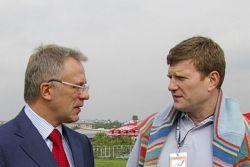 Vyacheslav Fetisov and Oleg Savchenko