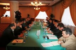 Participants in Petrovsky Hall of Mariott Aurora Hotel