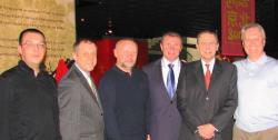 Alexey Kylasov, Vladimir Gerashchenko, Gintas Vileita, Sergey Bubka Jacques Rogge, Vadim Kopylov